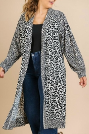 Umgee USA Soft Leopard Cardigan - Product Mini Image