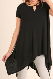 Umgee USA Split Neckline Tunic - Front cropped