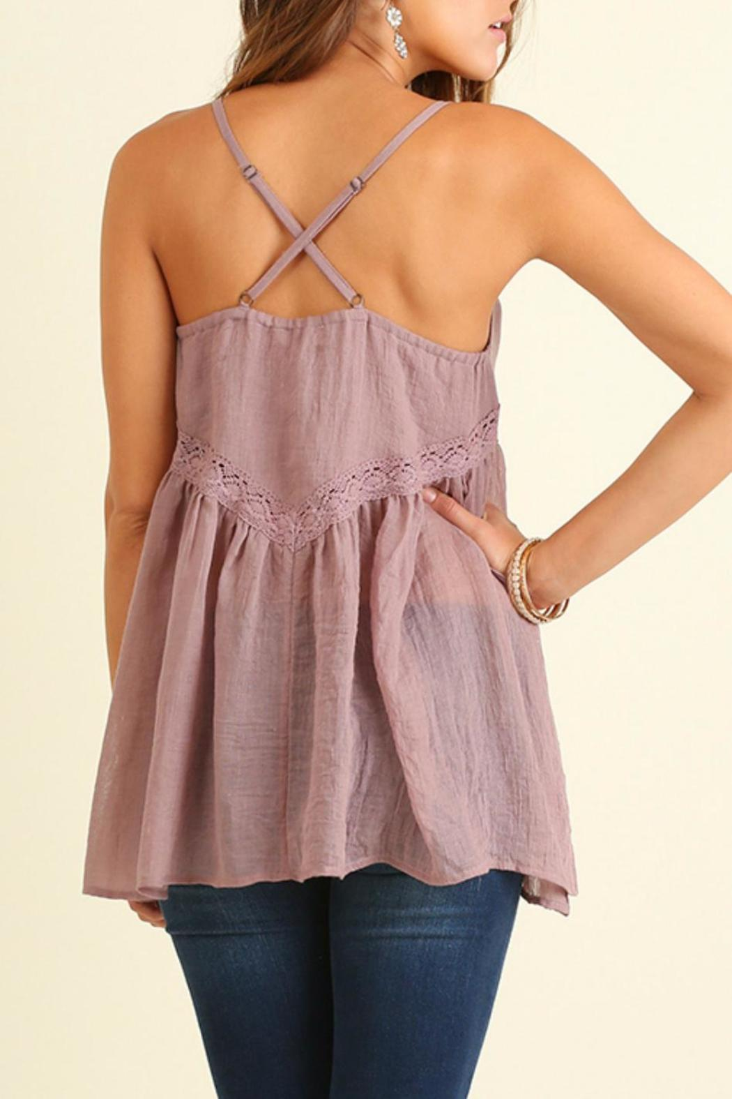 Umgee USA Strapless Mauve Top - Front Full Image