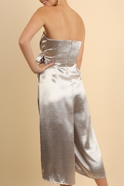 Umgee USA Strapless Metallic Jumpsuit - Front full body