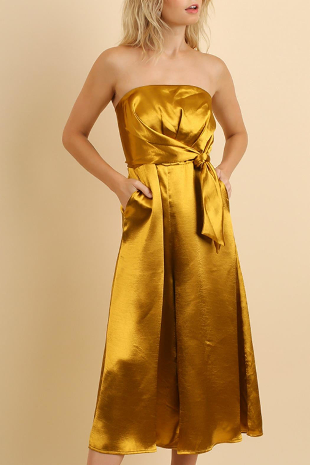Umgee USA Strapless Metallic Jumpsuit - Main Image