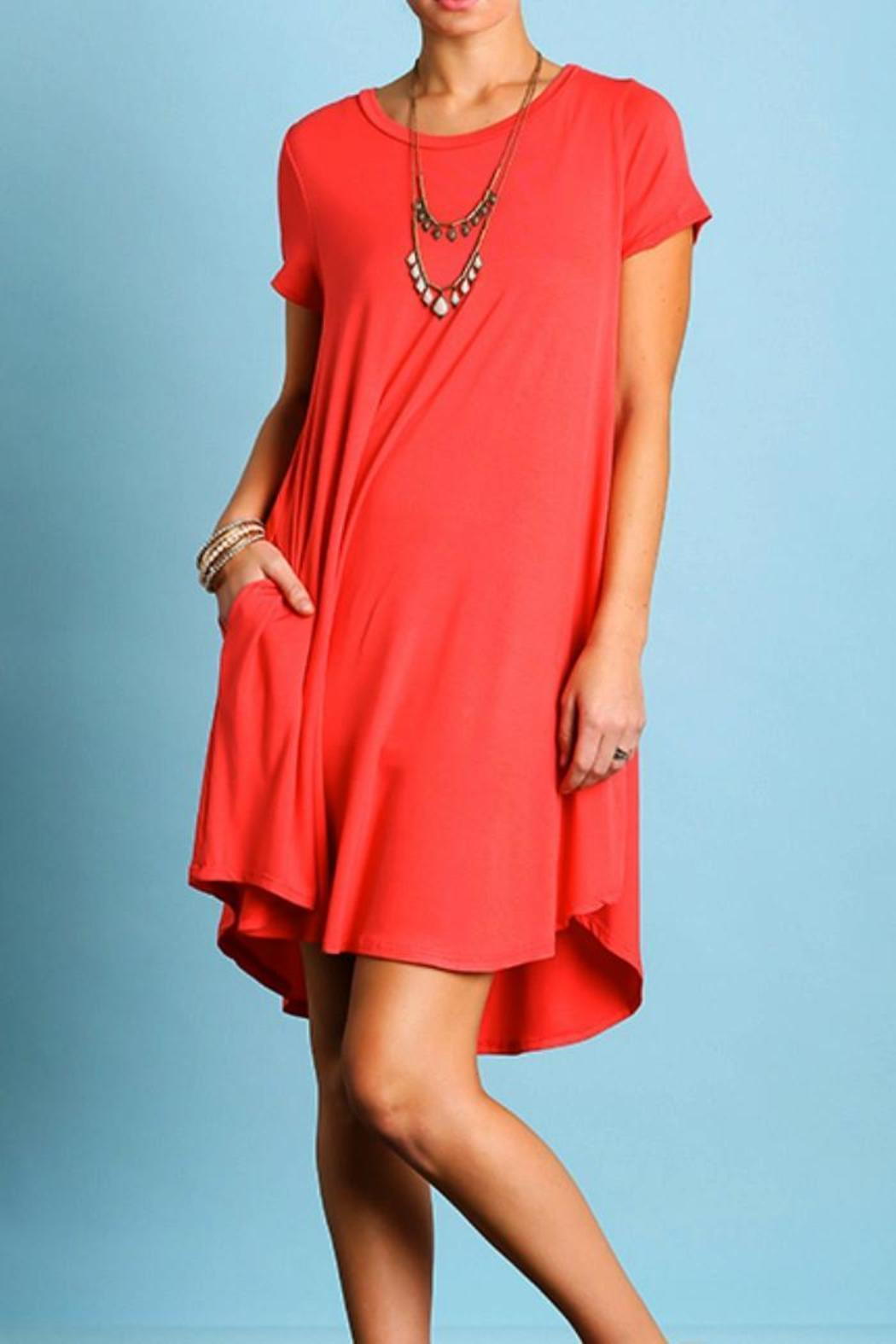 Umgee USA Short Sleeve Dress - Front Full Image