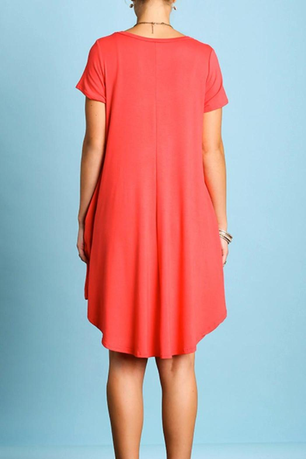 Umgee USA Short Sleeve Dress - Front Cropped Image