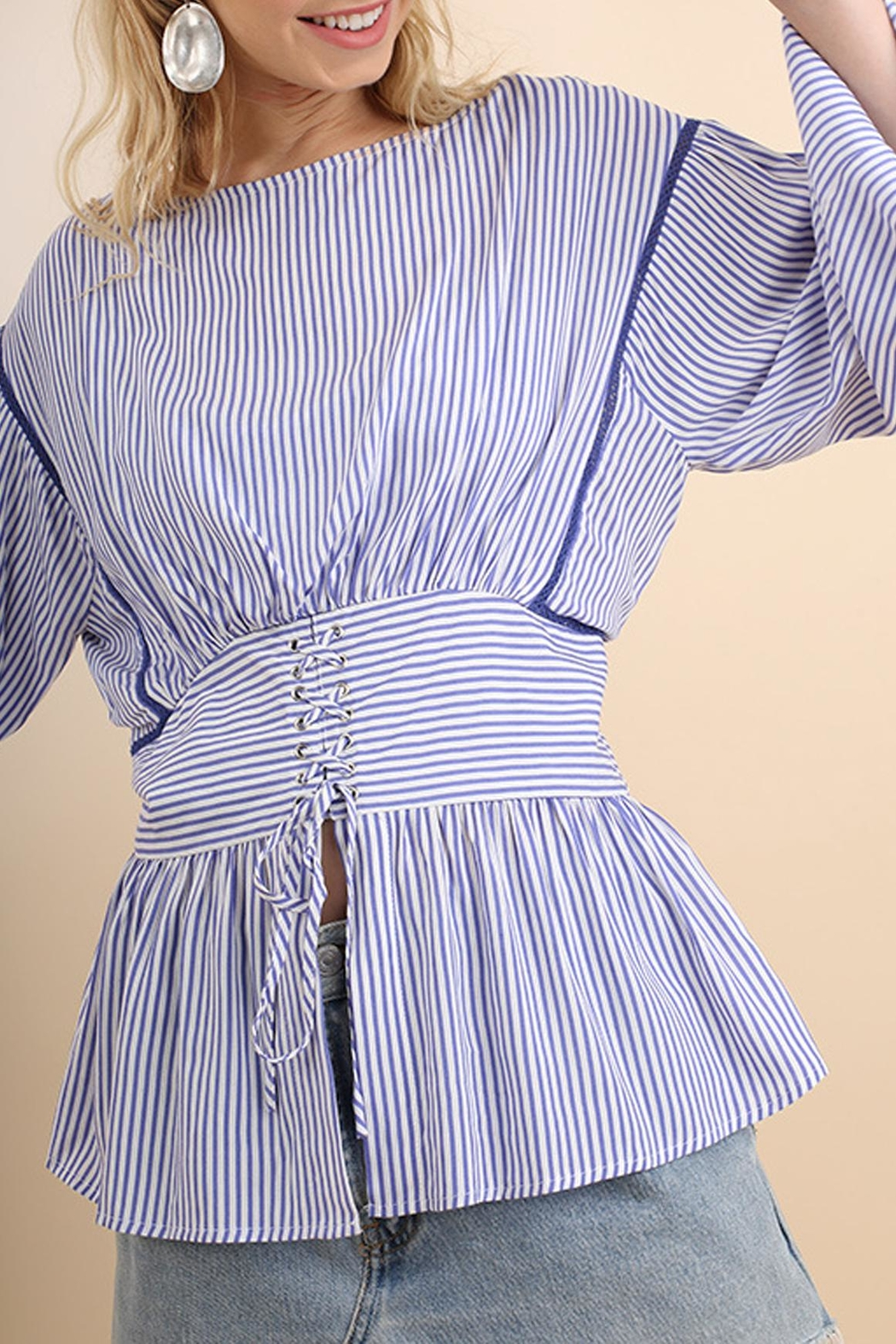 Umgee USA Striped Belted Top - Main Image