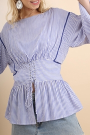 Umgee USA Striped Belted Top - Product Mini Image