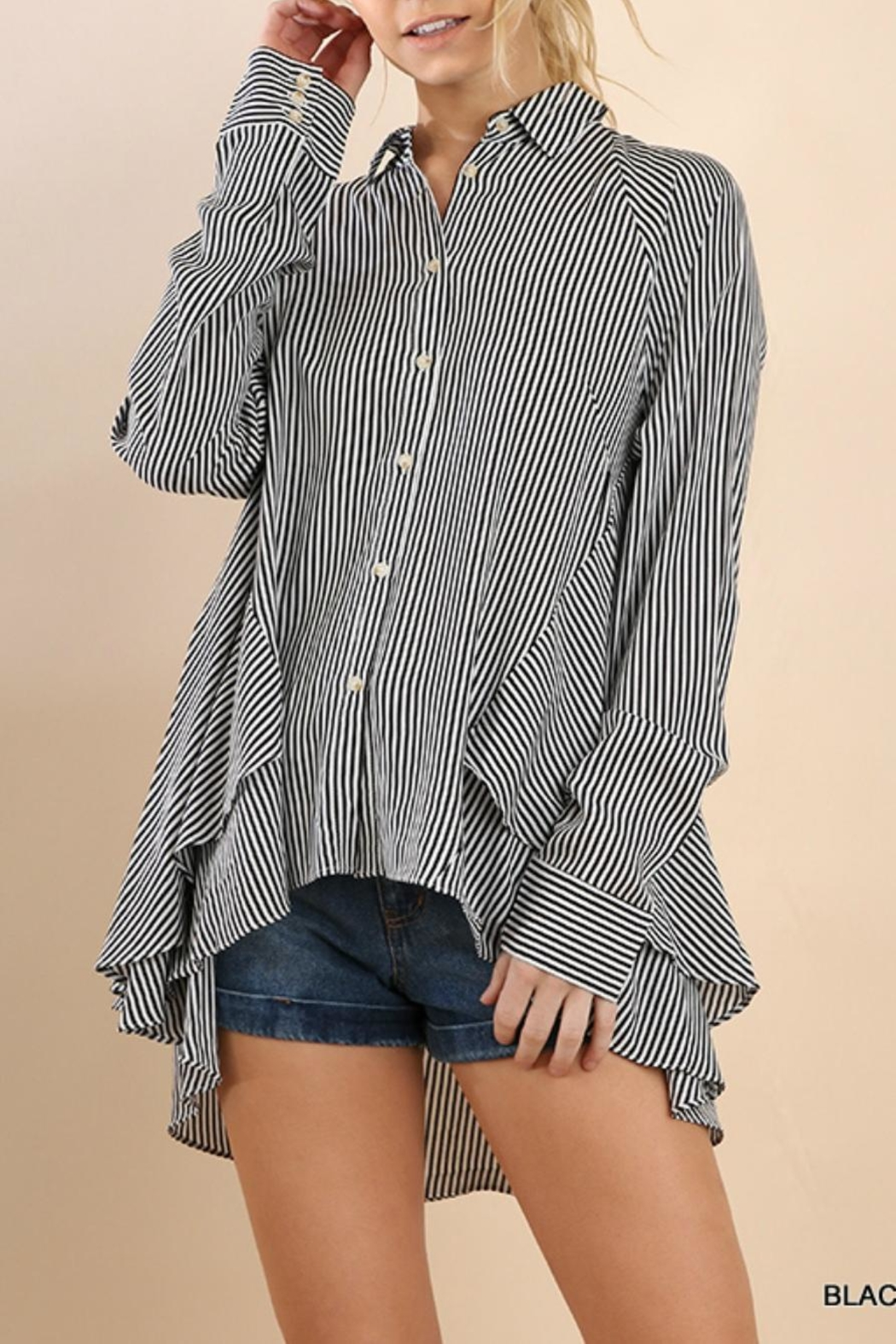Umgee USA Striped Drama Blouse - Main Image