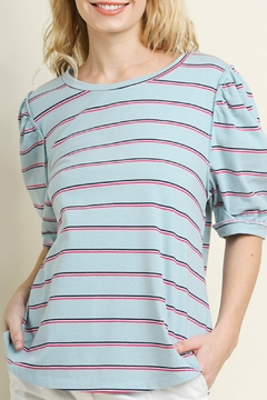 Umgee USA Striped High-Low Top - Product List Image