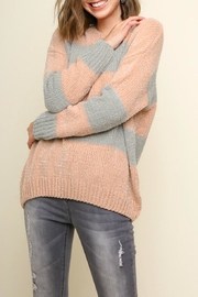 Umgee USA Striped Lurex Sweater - Product Mini Image