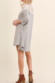 Umgee USA Striped Tee Dress - Front full body