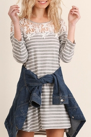 Umgee USA Striped Tee Dress - Front cropped