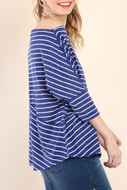 Umgee USA Stripes Away Top - Front full body