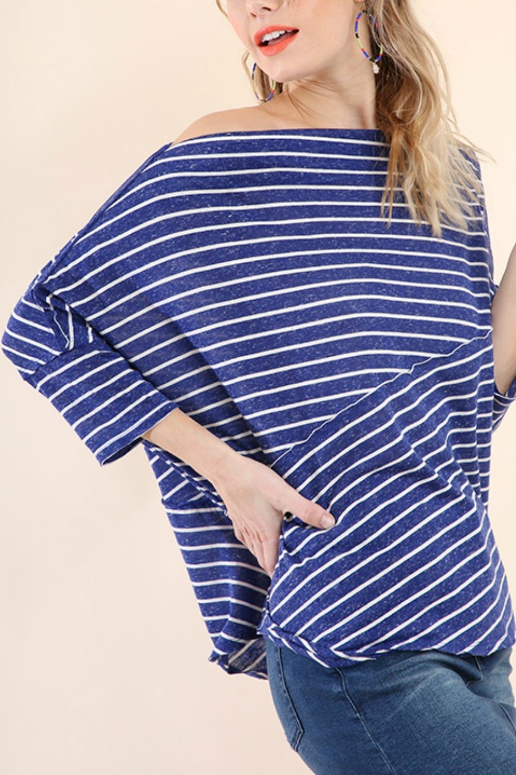 Umgee USA Stripes Away Top - Front Cropped Image