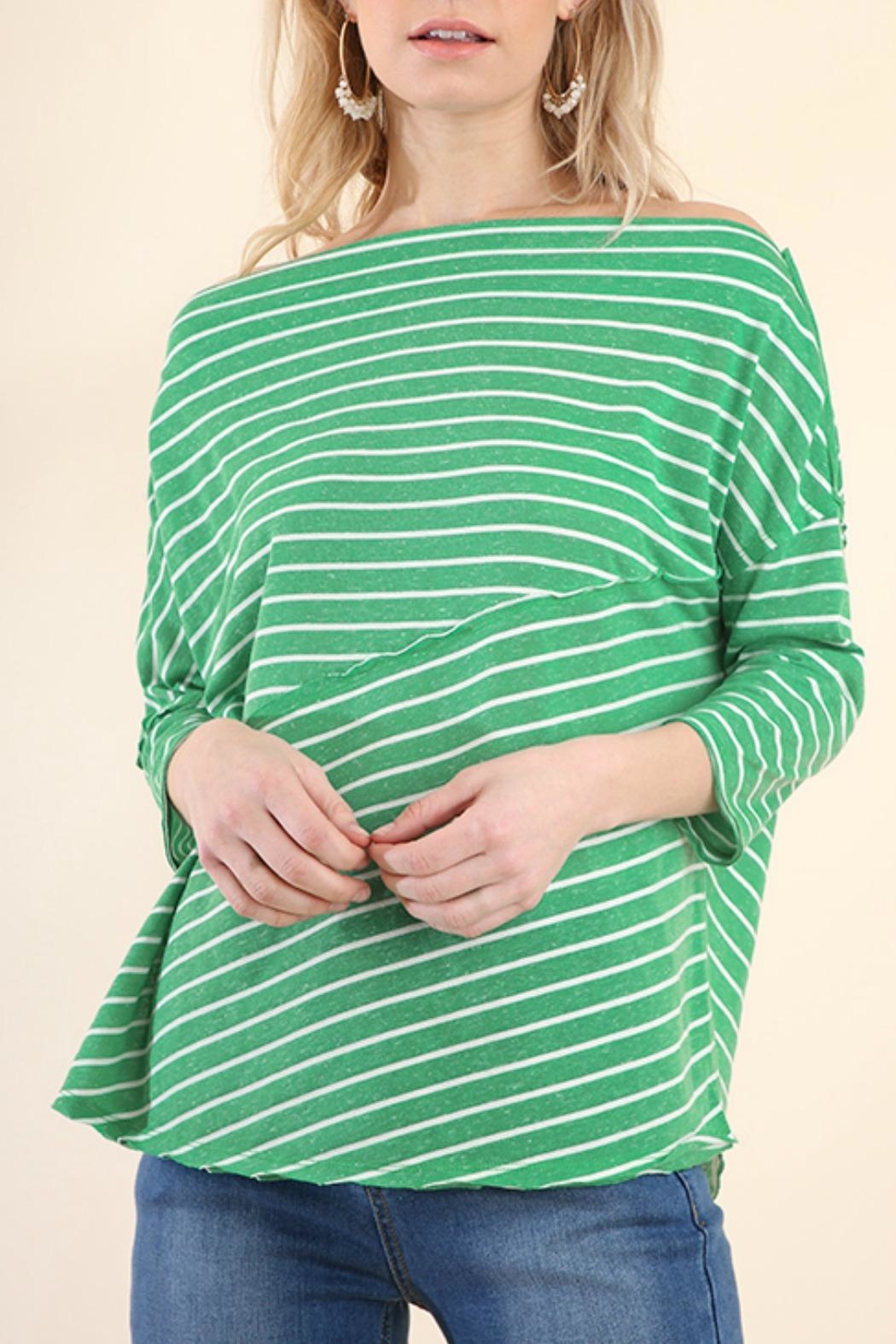 Umgee USA Stripes Away Top - Front Full Image