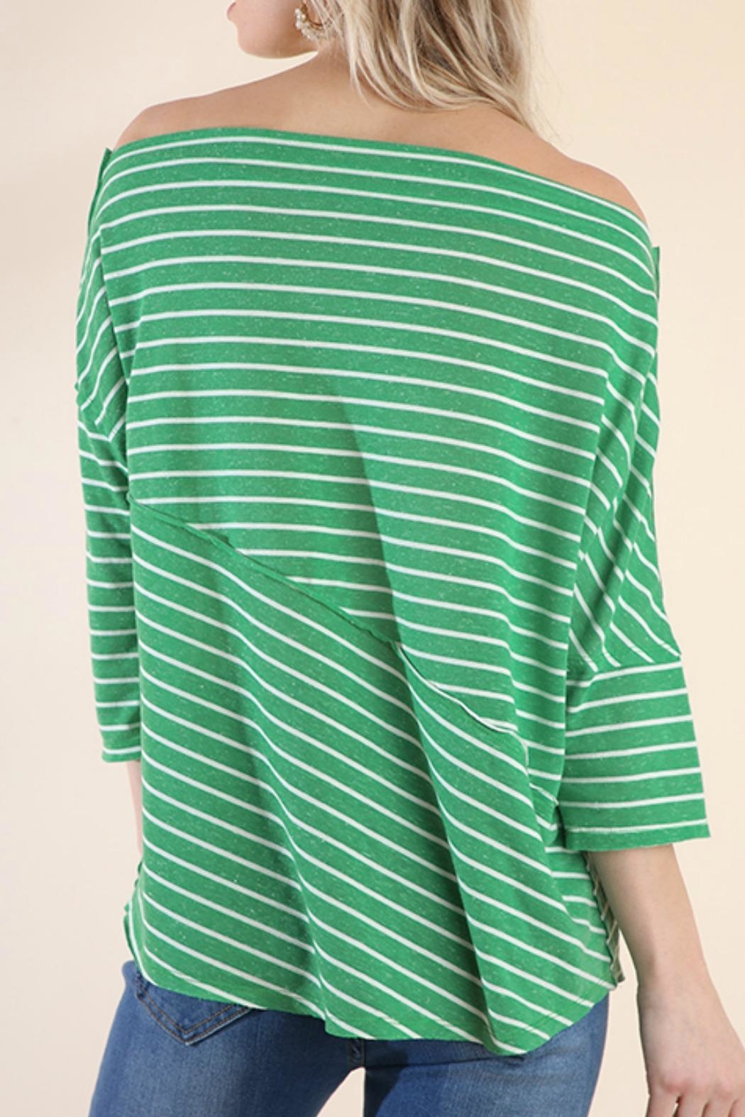 Umgee USA Stripes Away Top - Back Cropped Image