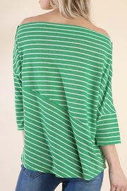 Umgee USA Stripes Away Top - Back cropped