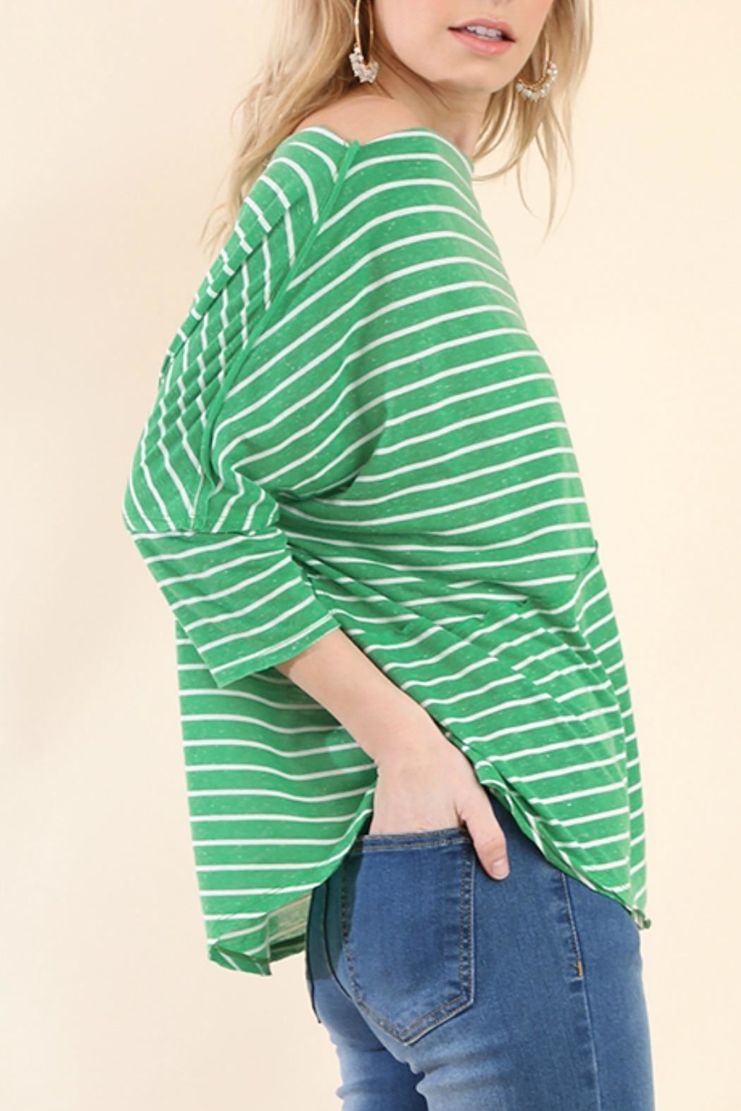 Umgee USA Stripes Away Top - Side Cropped Image