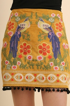 Shoptiques Product: Suede Embroidered Skirt