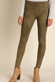 Umgee USA Suede Moto Jeggings - Product Mini Image