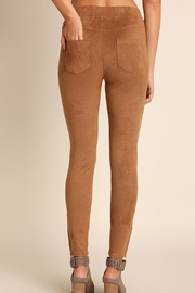 Umgee USA Suede Moto Jeggings - Front full body