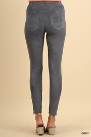 Umgee USA Suede Moto Jeggings - Side cropped