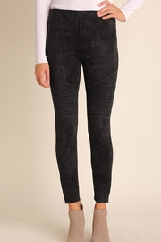 Umgee USA Suede Moto-Zipper Jeggings - Front cropped