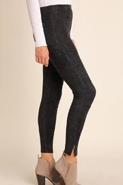 Umgee USA Suede Moto-Zipper Jeggings - Side cropped