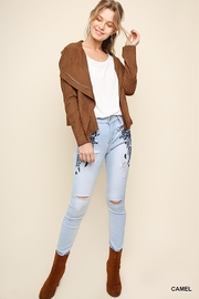 Umgee USA Suede Zip Up Moto Jacket - Other