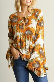 Umgee USA Sunflower Boho Top - Front cropped