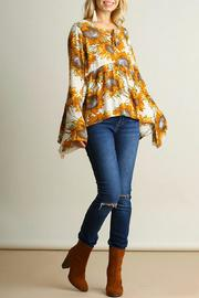 Umgee USA Sunflower Boho Top - Front full body