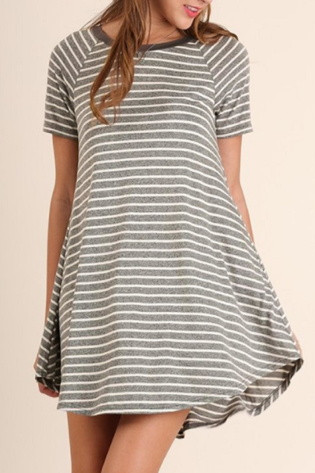 Umgee USA T-Shirt Dress - Front Cropped Image