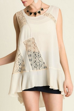 Umgee USA Taupe Lace Top - Product List Image
