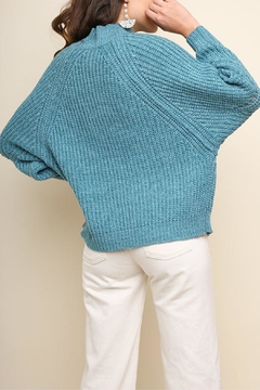 Umgee USA Teal Mock-Neck Sweater - Alternate List Image