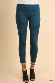 Umgee USA Teal Moto Jegging - Front cropped