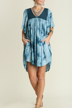 Shoptiques Product: Teal Washed Dress