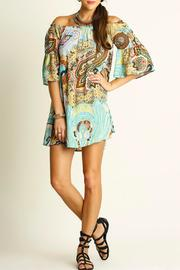 Umgee USA Printed Bell-Sleeve Dress - Product Mini Image