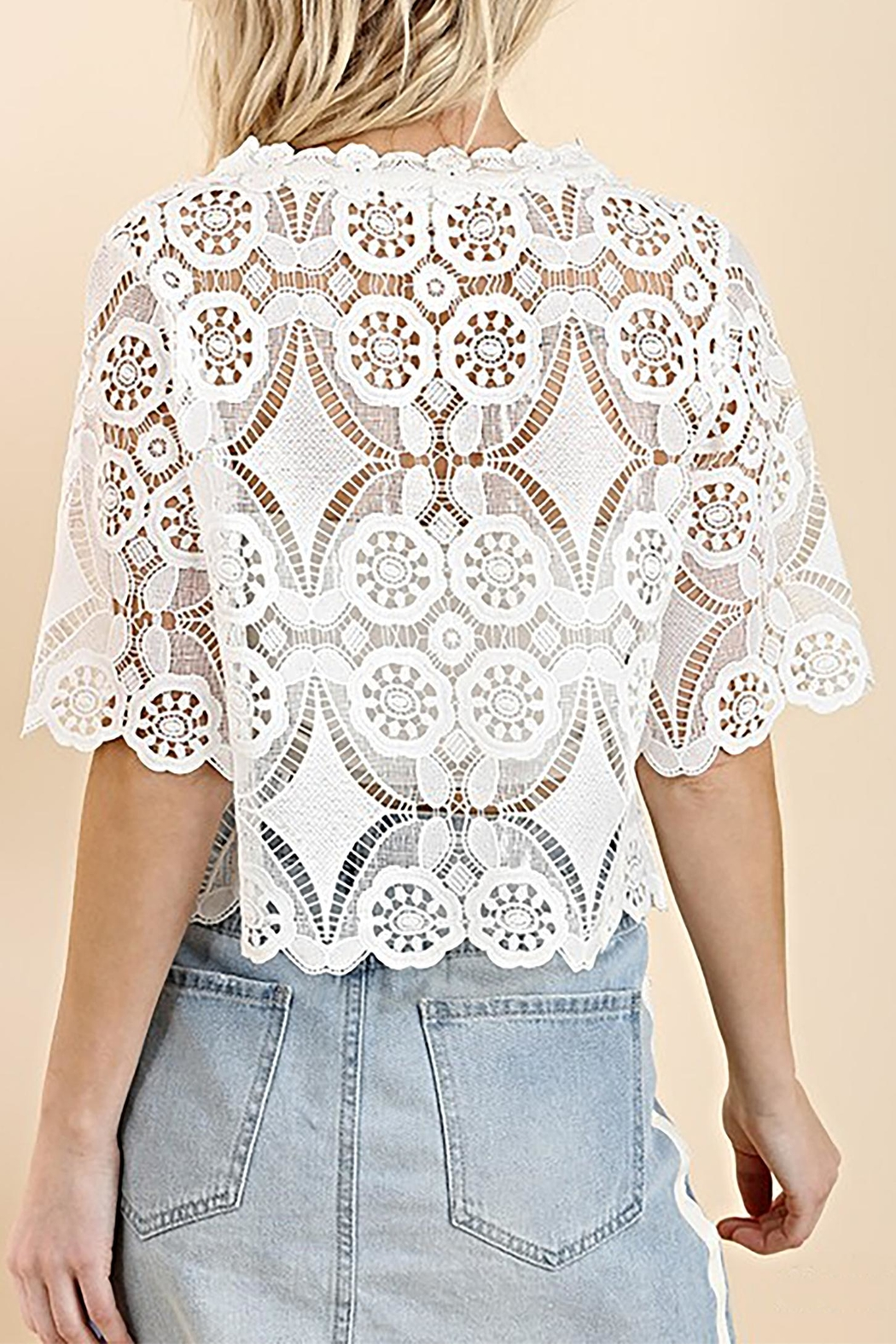 Umgee USA Lace Crop Top - Side Cropped Image