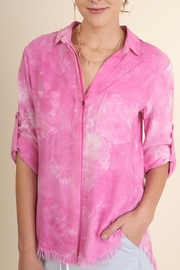 Umgee USA Tie-Dye Button-Up Top - Product Mini Image