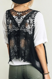 Umgee USA Tie-Dye Fringe-Lace Vest - Other