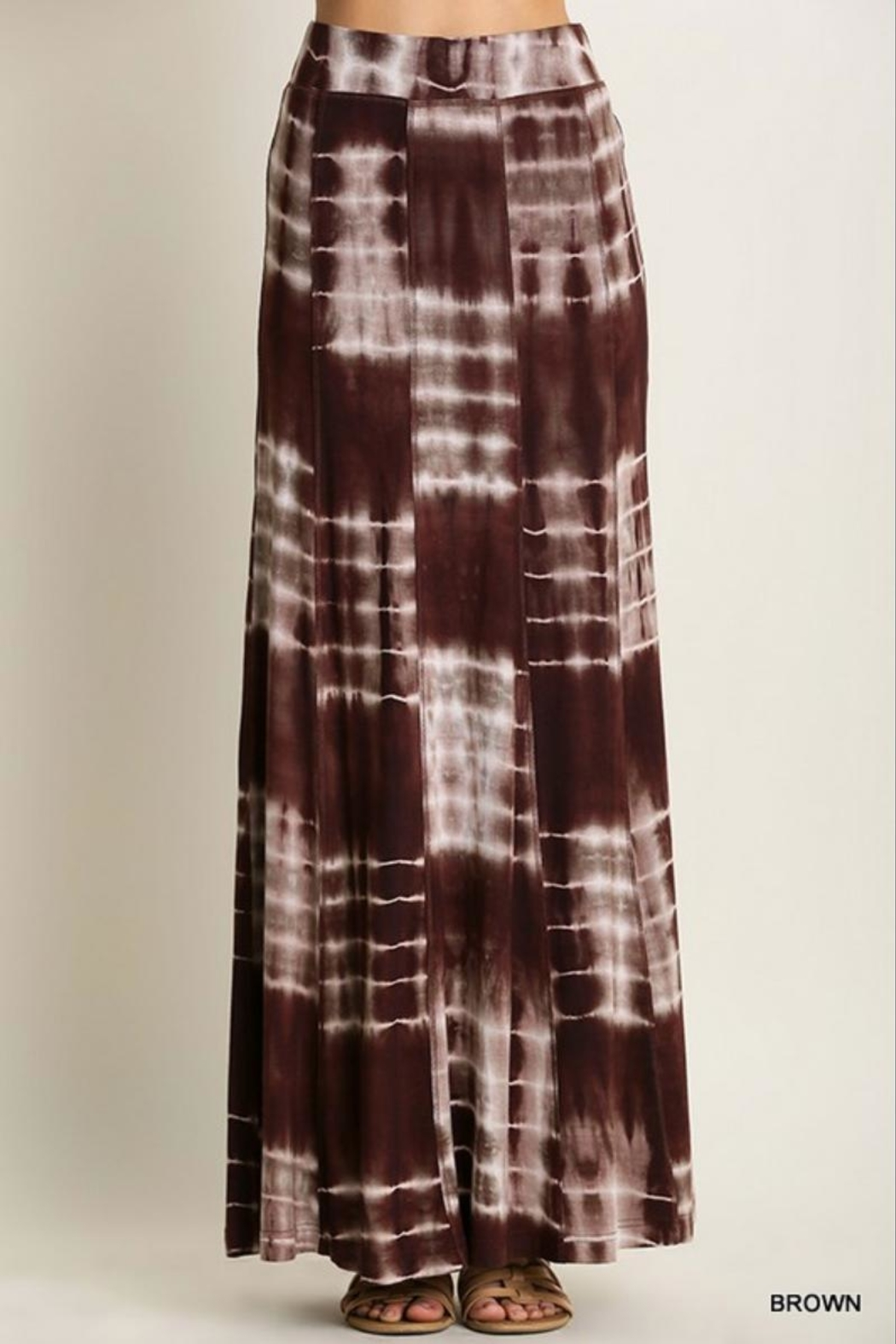 Umgee USA Tie-Dye  Maxi Skirt - Front Cropped Image
