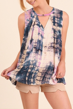 Shoptiques Product: Tie Dye Sleeveless Top