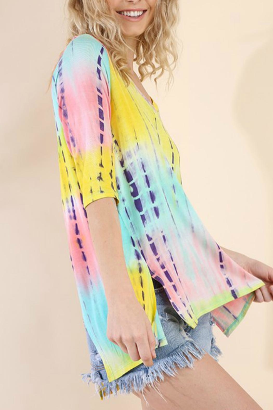 Umgee USA Tie-Dye Wendy Tunic - Side Cropped Image