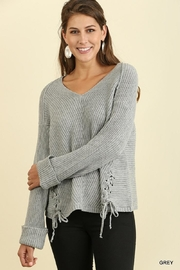 Umgee USA Tie Sides Sweater - Product Mini Image