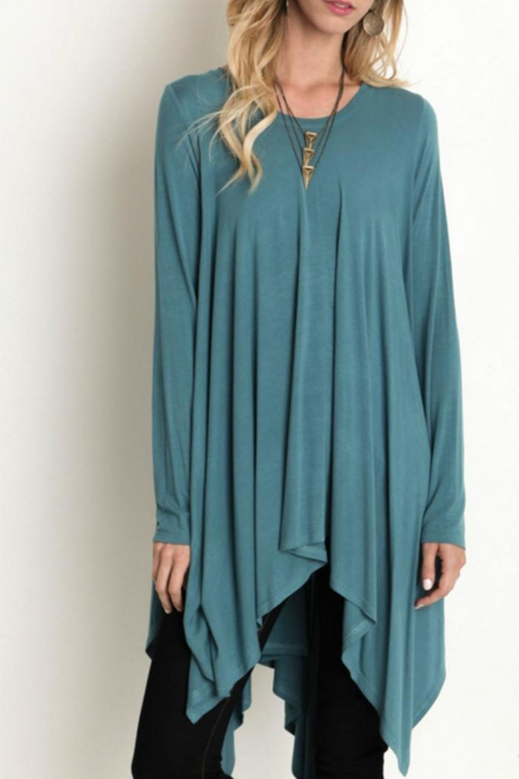 Umgee USA Trapeze Tunic Top - Front Full Image