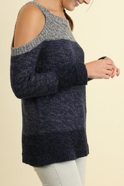 Umgee USA Tri-Tonal Sweater - Front full body