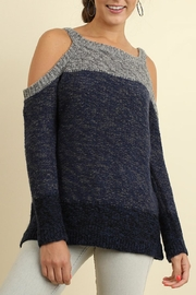 Umgee USA Tri-Tonal Sweater - Front cropped