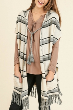 Shoptiques Product: Tribal Hooded Cardigan