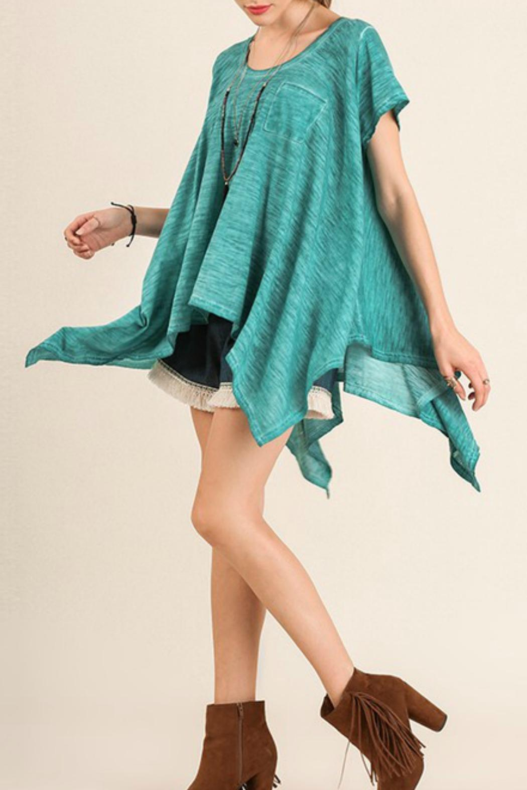 Umgee USA Turquoise Top - Front Full Image