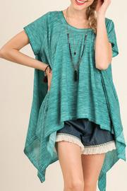 Umgee USA Turquoise Top - Front cropped