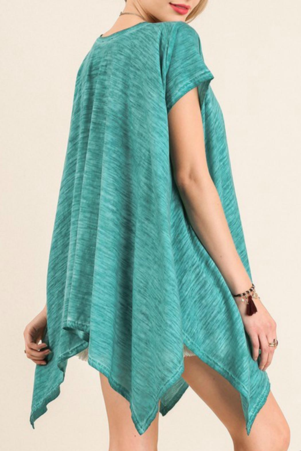 Umgee USA Turquoise Top - Side Cropped Image