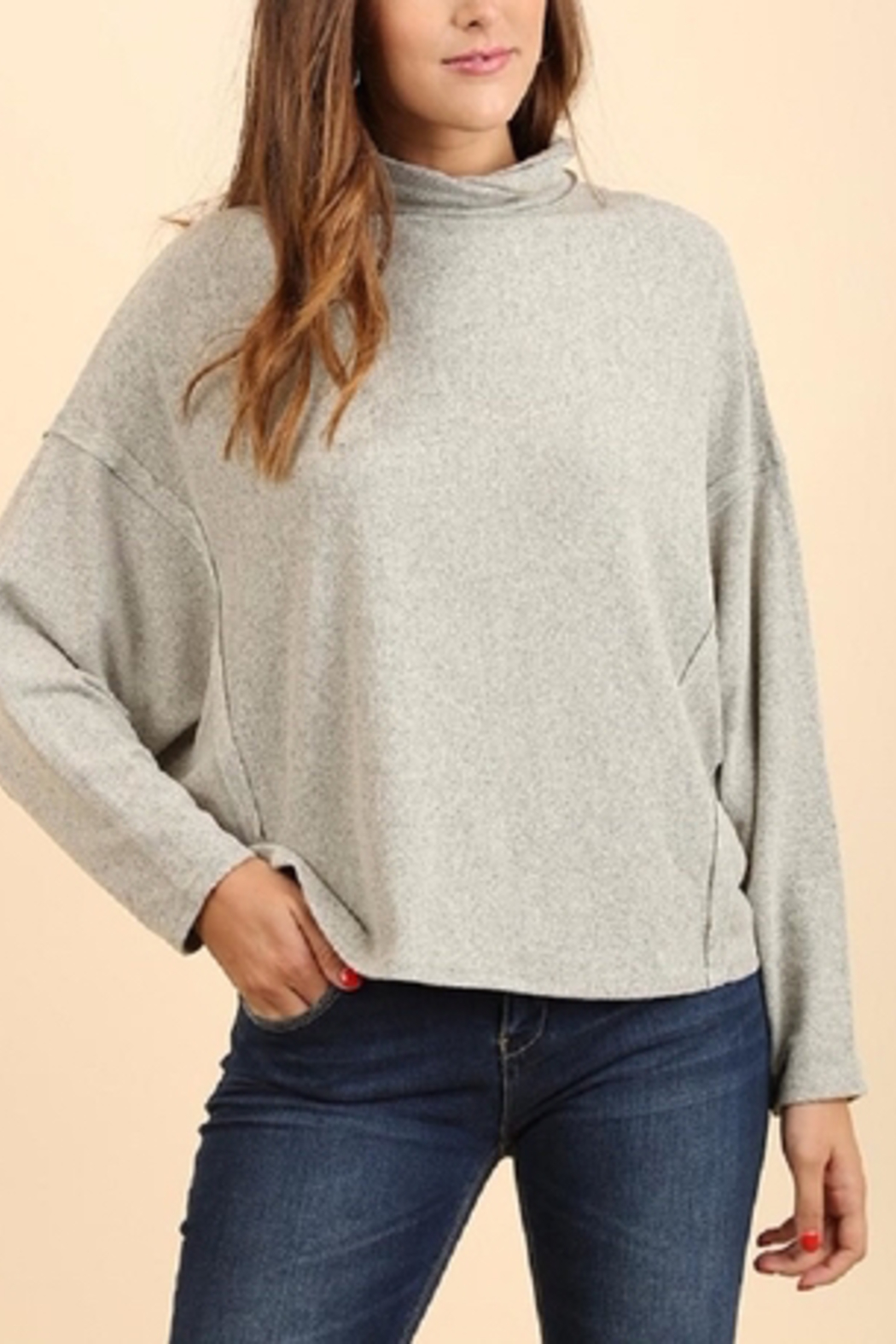 Umgee USA Turtleneck Ls Top - Side Cropped Image